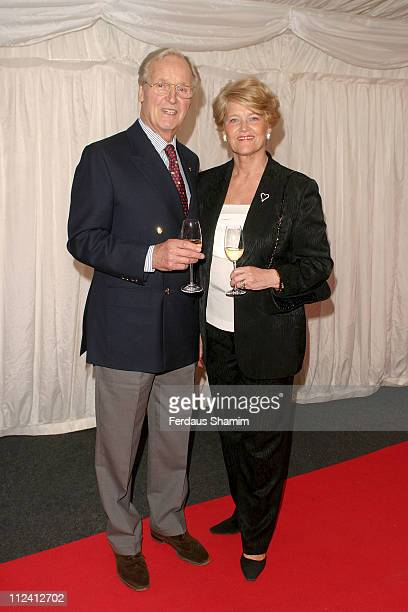 Nicholas Parsons and wife Anne during ITV's Hell's Kitchen May 31 2004 Arrivals at Brick Lane in London Great Britain
