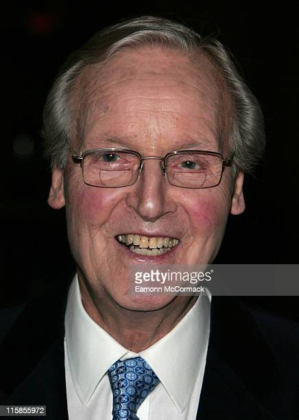 Nicholas Parsons during Angela Rippon Hosts British Red Cross Fundraising – Arrivals at Intercontinental Hotel in London Great Britain