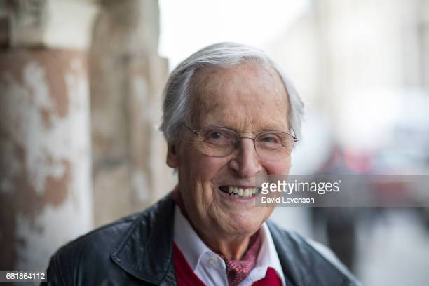 Nicholas Parsons entertainer and broadcaster at the FT Weekend Oxford Literary Festival on March 31 2017 in Oxford England