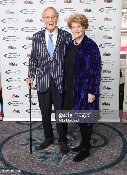 Nicholas Parsons with his wife Ann Reynolds attend the 2019 'The Oldie of the Year Awards' held at Simpson's In The Strand on January 29 2019 in...