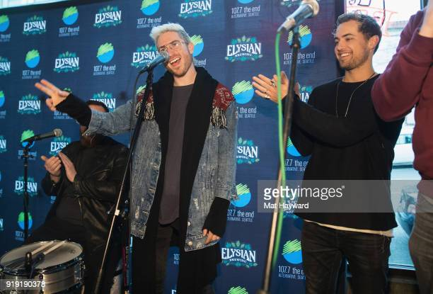Nicholas Petricca and Kevin Ray of Walk The Moon perform during an EndSession hosted by 1077 The End at Elysian Capitol Hill on February 16 2018 in...