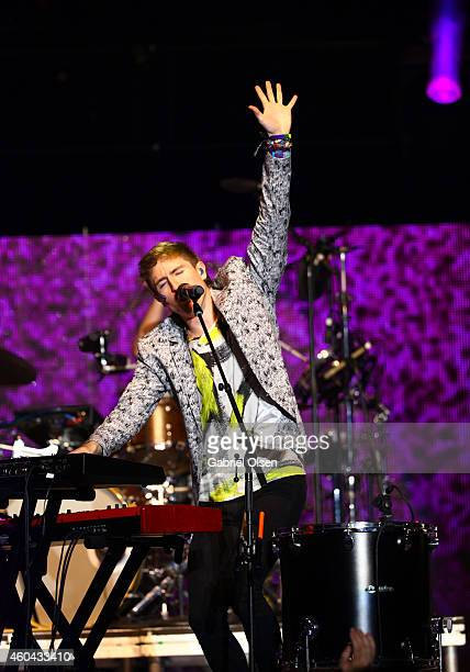 Nicholas Petricca of Walk the Moon performs onstage during day one of the 25th annual KROQ Almost Acoustic Christmas at The Forum on December 13,...