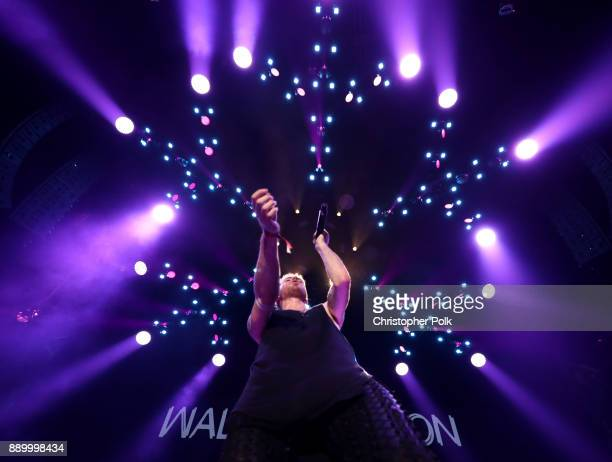 Nicholas Petricca of Walk the Moon performs onstage during KROQ Almost Acoustic Christmas 2017 at The Forum on December 10 2017 in Inglewood...