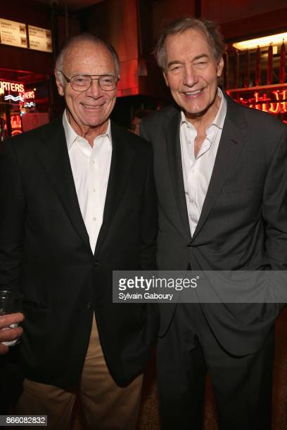 Nicholas Pileggi and Charlie Rose attend New York Magazine's 50th Anniversary Celebration at Katz's Delicatessen on October 24 2017 in New York City