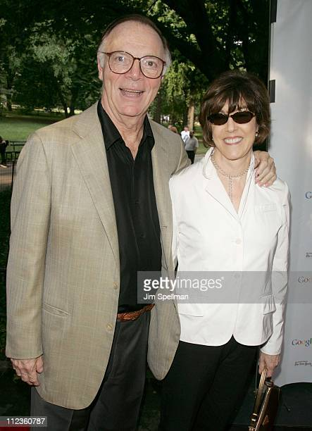 """Nicholas Pileggi and Nora Ephron during The Public's Theaters Annual Gala - Opening Night of """"Macbeth"""" at The Delacorte Theater in Central Park in..."""