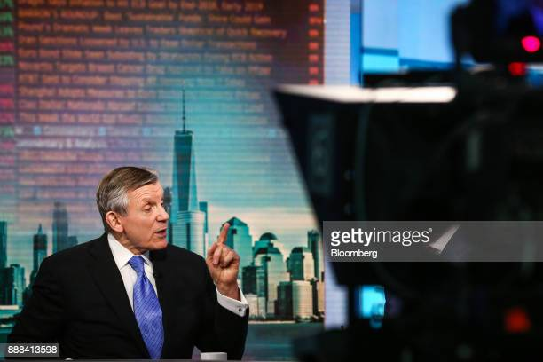 Nicholas Pinchuk chairman and chief executive officer of SnapOn Inc speaks during a Bloomberg Television interview in New York US on Friday Dec 8...