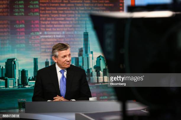 Nicholas Pinchuk chairman and chief executive officer of SnapOn Inc smiles during a Bloomberg Television interview in New York US on Friday Dec 8...