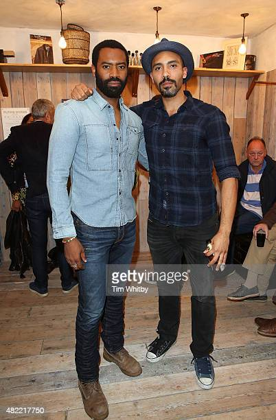 Nicholas Pinnock and Alex Lanipekun attend a private view of FH Faces a series of portraits by photographer Gary Wallis presented by Flying Horse...