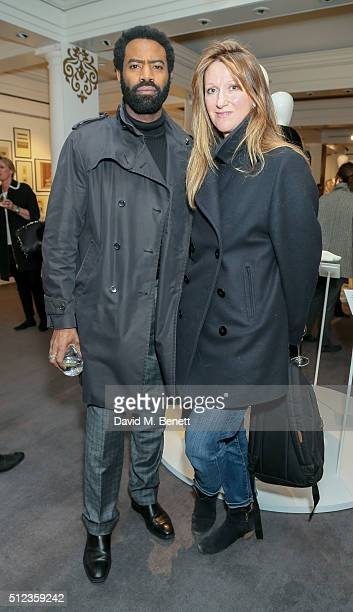 Nicholas Pinnock and Amy Gadney attend The Perfumer's Story Azzi Glasser in conversation with Jack Guinness hosted by the British Fashion Council...