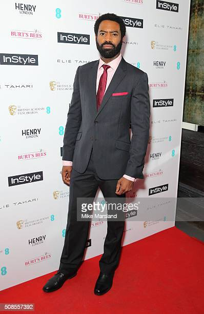 Nicholas Pinnock attends the InStyle EE Rising Star PreBAFTA Party at 100 Wardour Street on February 4 2016 in London England