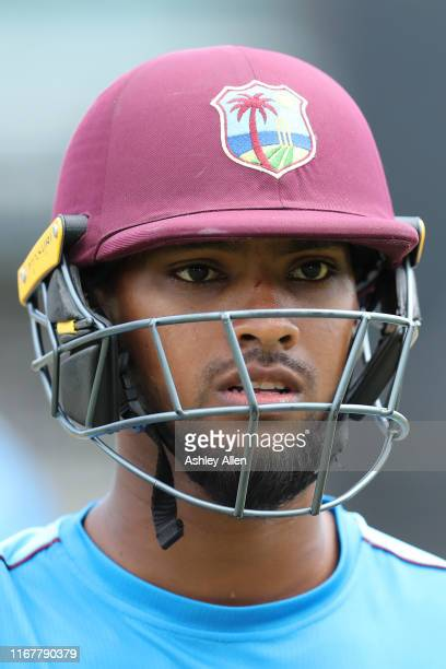 Nicholas Pooran during a net session at Queen's Park Oval on August 13, 2019 in Port of Spain, Trinidad And Tobago.