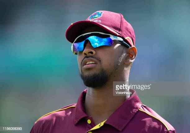 Nicholas Pooran of the West Indies during the Group Stage match of the ICC Cricket World Cup 2019 between England and the West Indies at The Ageas...
