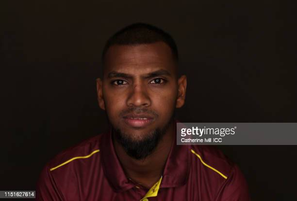 Nicholas Pooran of the West Indies poses for a portrait prior to the ICC Cricket World Cup 2019 at the Radisson Blu Hotel on May 25, 2019 in Bristol,...