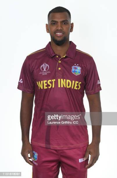 Nicholas Pooran of West Indies poses for a portrait prior to the ICC Cricket World Cup 2019 at The Radisson Blu Hotel on May 25, 2019 in Bristol,...