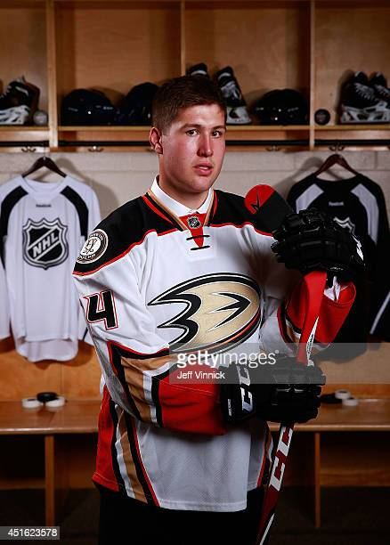 Nicholas Ritchie tenth overall pick of the Anaheim Ducks poses for a portrait during the 2014 NHL Entry Draft at Wells Fargo Center on June 27 2014...