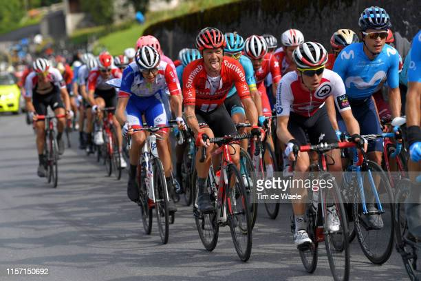 Nicholas Roche of Ireland and Team Sunweb / Carlos Betancur of Colombia and Movistar Team / Peloton / during the 83rd Tour of Switzerland Stage 6 a...