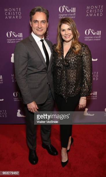 Nicholas Rohlfing and Heidi Blickenstaff attend The Eugene O'Neill Theater Center's 18th Annual Monte Cristo Award Honoring LinManuel Miranda at...