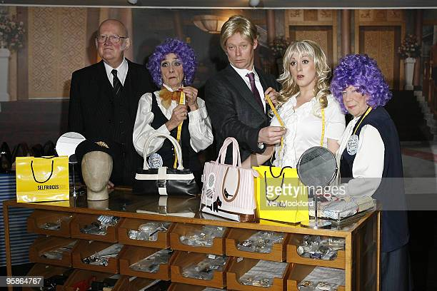 Nicholas Smith, June Brown, Ricky Groves, Laila Morse and Natalie Cassidy attends 'You Are Being Served' - a Charity sale of designer clothing, shoes...