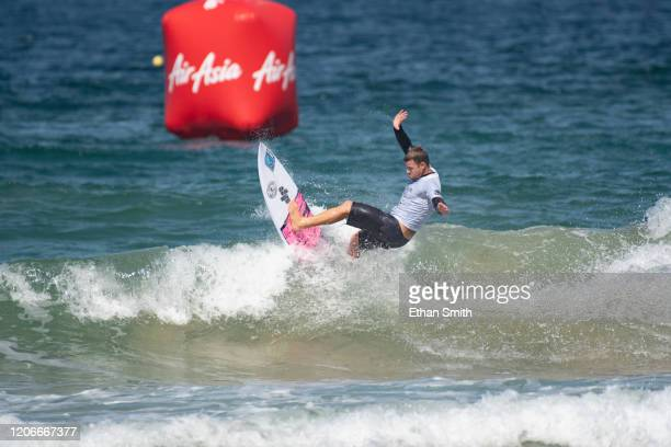 Nicholas Squiers of Hawaii surfing in Round 3 of the 2020 Sydney Surf Pro at Manly Beach on 11 March 2020 in Sydney Australia today