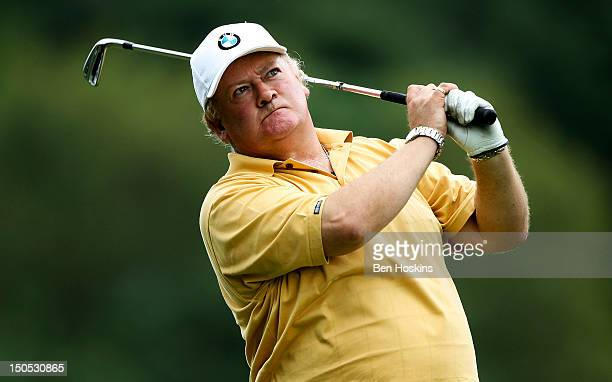 Nicholas Terry of Park Wood Golf Club hits his tee shot on the 14th hole during the Regional Final of the Virgin Atlantic PGA National ProAm...