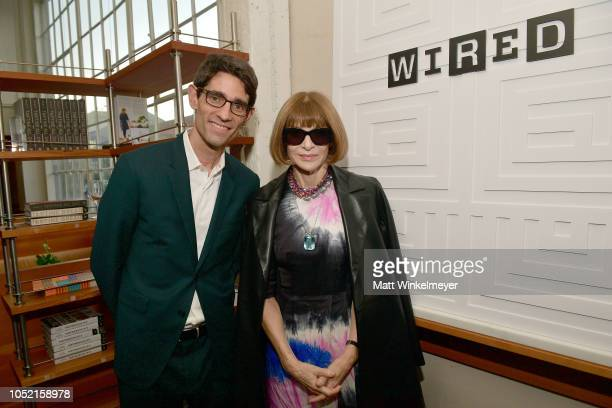 Nicholas Thompson and Anna Wintour attend VIP Dinner For WIRED's 25th Anniversary Hosted By Nicholas Thompson And Anna Wintour at Tartine Manufactory...