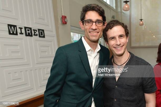 Nicholas Thompson and Glen Weyl attend VIP Dinner For WIRED's 25th Anniversary Hosted By Nicholas Thompson And Anna Wintour at Tartine Manufactory on...