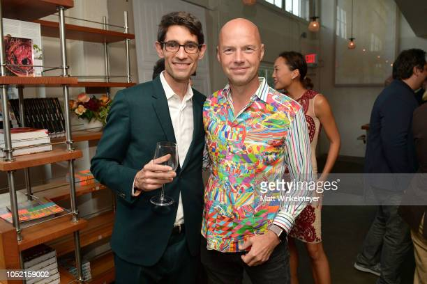 Nicholas Thompson and Sebastian Thrun attend VIP Dinner For WIRED's 25th Anniversary Hosted By Nicholas Thompson And Anna Wintour at Tartine...