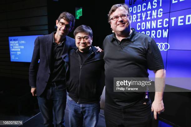 Nicholas Thompson Joi Ito and Reid Hoffman attend WIRED25 Festival WIRED Celebrates 25th Anniversary – Day 1 on October 13 2018 in San Francisco...