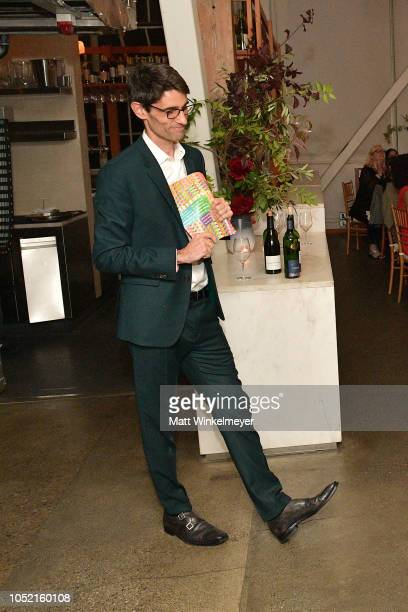 Nicholas Thompson speaks at VIP Dinner For WIRED's 25th Anniversary Hosted By Nicholas Thompson And Anna Wintour at Tartine Manufactory on October 14...
