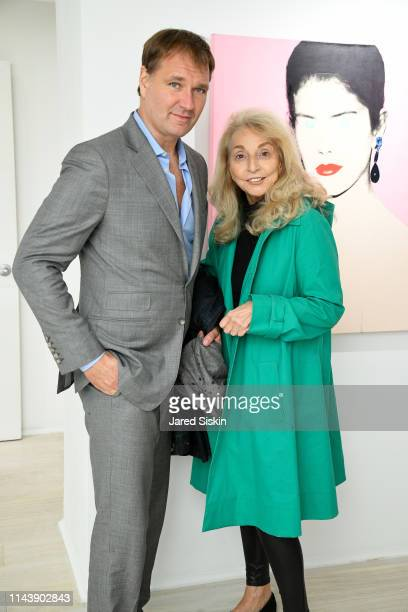 Nicholas Varney and Eleanora Kennedy attend Double Vision Curated By Jane Holzer at Leila Heller Gallery on May 13 2019 in New York City