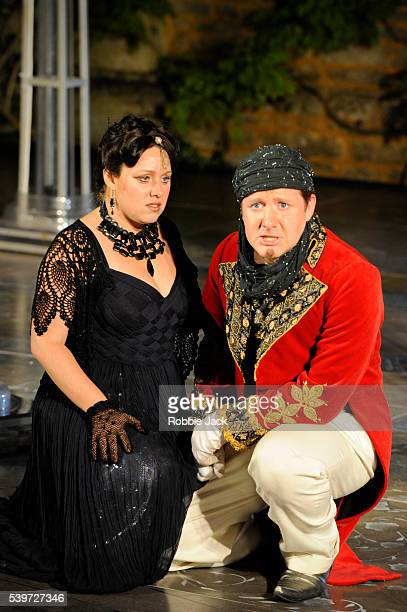Nicholas Watts and Sophie Bevan perform in the production of Antonio Vivaldi's opera L'Incoronazione Di Dario at Garsington in Oxfordshire | Location...