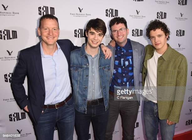 Nicholas Weinstock Daniel Doheny Craig Johnson and Antonio Marziale attend the Alex Strangelove premiere during the 2018 San Francisco Film Festival...