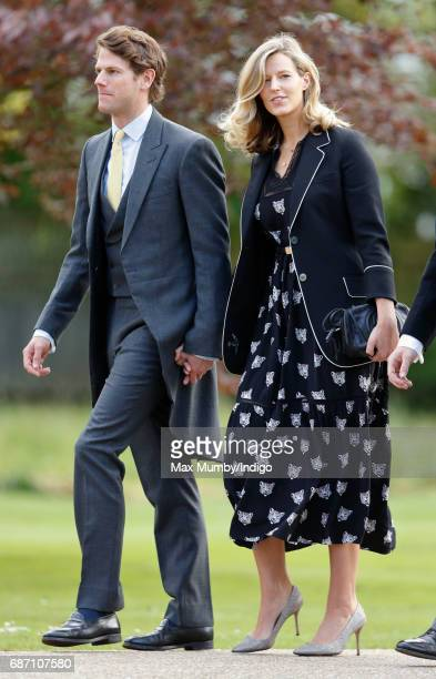 Nicholas Wilkinson and Olivia Hunt attend the wedding of Pippa Middleton and James Matthews at St Mark's Church on May 20 2017 in Englefield Green...
