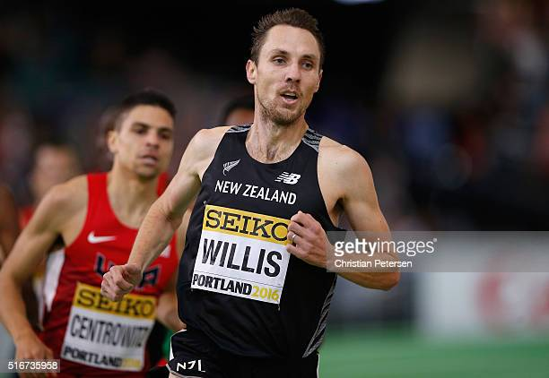 Nicholas Willis of New Zealand competes in the Men's 1500 Metres Final during day four of the IAAF World Indoor Championships at Oregon Convention...