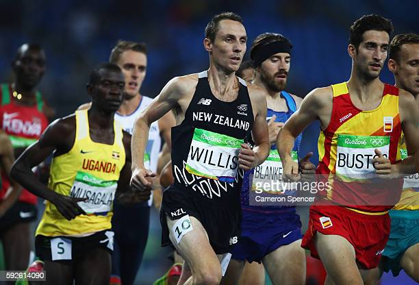 Nicholas Willis of New Zealand competes in the Men's 1500 metres final on Day 15 of the Rio 2016 Olympic Games at the Olympic Stadium on August 20,...