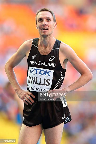 Nicholas Willis of New Zealand competes in the Men's 1500 metres semi finals during Day Seven of the 14th IAAF World Athletics Championships Moscow...