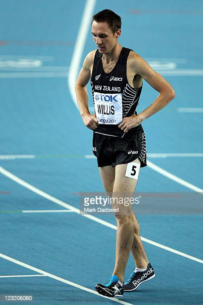 Nicholas Willis of New Zealand looks dejected after the men's 1500 metres semi finals during day six of the 13th IAAF World Athletics Championships...