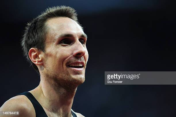 Nicholas Willis of New Zealand smiles after competing in the Men's 1500m Round 1 Heats on Day 7 of the London 2012 Olympic Games at Olympic Stadium...