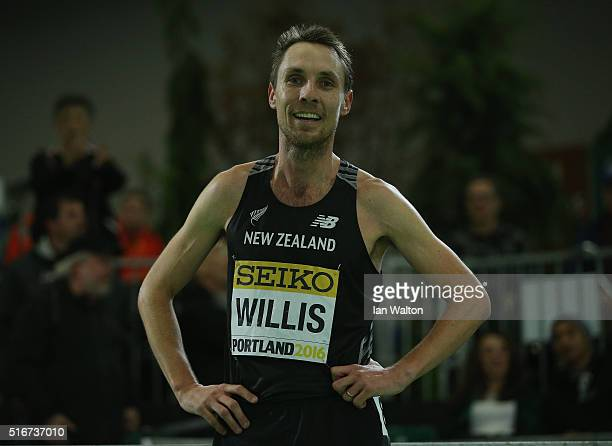 Nicholas Willis of New Zealand wins bronze in the Men's 1500 Metres Final during day four of the IAAF World Indoor Championships at Oregon Convention...