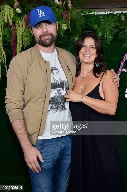 Nicholas Yedinak and Dawn McCoy attend Adina Reyter Friendship Bracelet Launch at Soho House on July 26 2018 in West Hollywood California