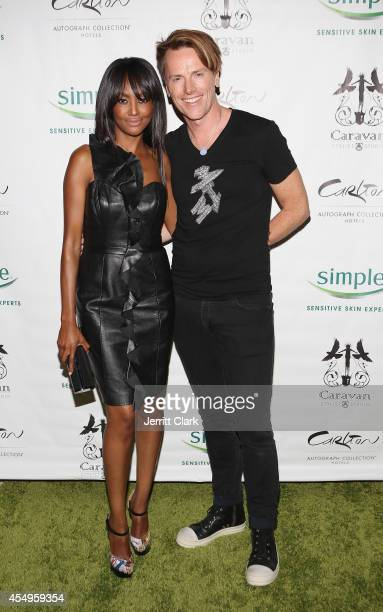 Nichole Galicia and Don O'Neill attends the Simple Skincare & Caravan Stylist Studio Fashion Week Event on September 7, 2014 in New York City.