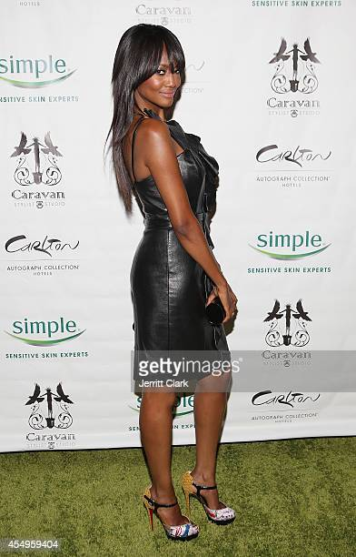 Nichole Galicia attends the Simple Skincare Caravan Stylist Studio Fashion Week Event on September 7 2014 in New York City