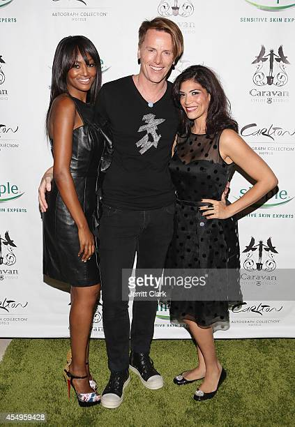 Nichole Galicia Don O'Neill and Laura Gomez attends the Simple Skincare Caravan Stylist Studio Fashion Week Event on September 7 2014 in New York City