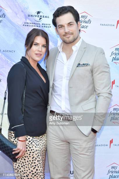 Nichole Gustafson and Giacomo Gianniotti attend Ending Youth Homelessness A Benefit For My Friend's Place Gala at Hollywood Palladium on April 06...