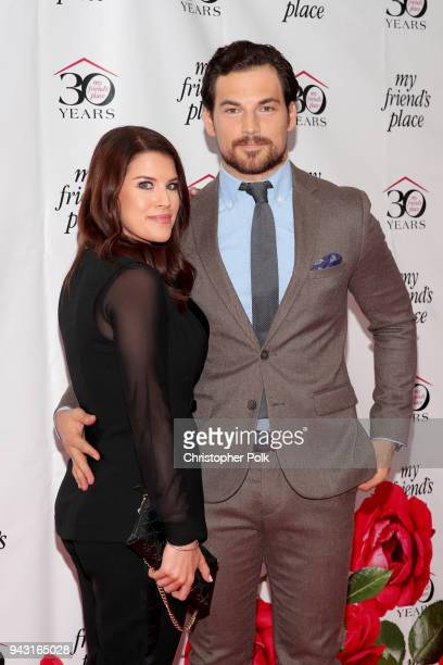 Nichole Gustafson and Giacomo Gianniotti attend My Friend's Place 30th Anniversary Gala at Hollywood Palladium on April 7 2018 in Los Angeles...