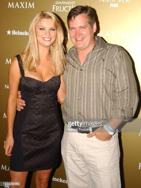 Nichole Hiltz and Keith Blanchard during Maxim Magazine Hot 100 Party in Celebration of the Grand Opening of Body English In the Hard Rock Hotel...