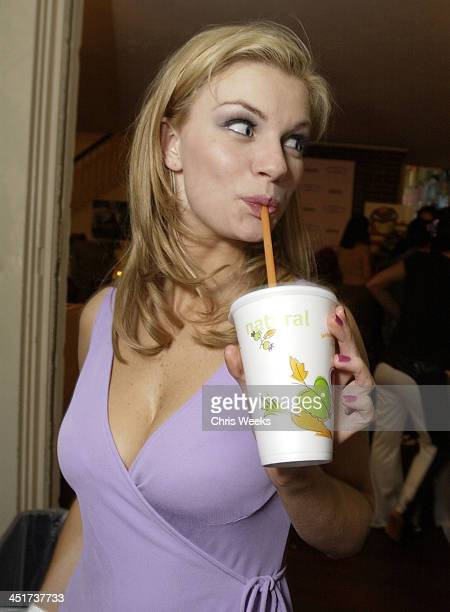 Nichole Hiltz at Jamba Juice during Allure Magazine Hosts Cabana Beauty Buffet Day Two at Chateau Marmont in West Hollywood California United States