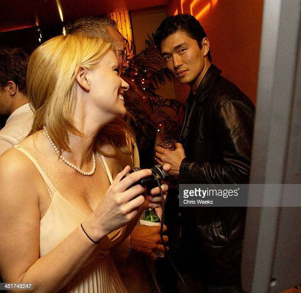 Nichole Hiltz Rick Yune during Playstation 2 Hosts the Movieline Young Hollywood Awards AfterParty in Los Angeles California United States