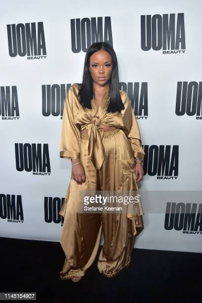 Nichole Lynel attends UOMA Beauty Launch Event at NeueHouse Hollywood on April 25 2019 in Los Angeles California