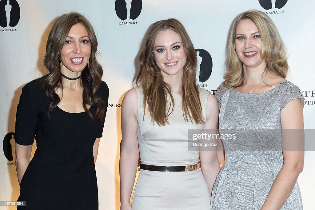 Nicholl Fellows Patty Jones, Stephanie Shannon and Barbara Stepansky attend the 2013 Academy Nicholl Fellowships In Screenwriting Awards hosted by AMPAS at AMPAS Samuel Goldwyn Theater on November 7, 2013 in Beverly Hills, California.